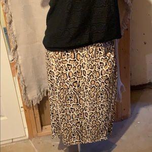 Leopard print maxi skirt by Lane Bryant